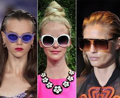 Spring/ Summer 2014 Eyewear Trends: Colorful Sunglasses  #sunglasses #eyewear
