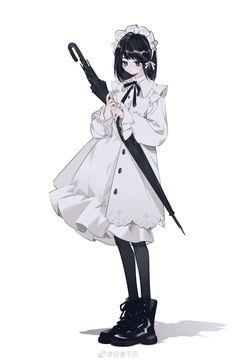 Anime Girl Dress, Anime Girl Neko, Anime Art Girl, Pretty Art, Cute Art, Cute Anime Character, Character Art, Art Costume, Anime Angel
