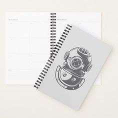Vintage Diving Helmet Planner - vintage gifts retro ideas cyo
