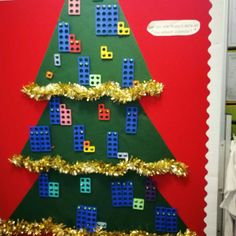 Love this numicon advent tree I saw at St Paul's PS in Glenrothes #lovemaths #learningcouncil #uodedu