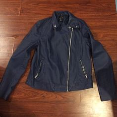 Forever 21 jacket Forever 21 blue jacket, never worn, size L, reasonable offer will be accepted! Forever 21 Jackets & Coats