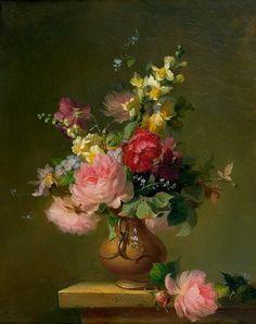 François Rivoire Bouquet of Roses 1861