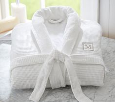 Weave Resort barn It features an easy-care exterior of polyester/cotton waffle weave. Lined with superabsorbent Hydro cotton Turkish terry. Large Women, New Shop, Resort Spa, Little Gifts, Pottery Barn, Weaving, My Style, Shopping, Gift Ideas