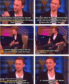 Tom Hiddleston on the Loki and Hulk fight in The Avengers