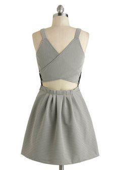 Cutout, Print, Check the Gate! Dress, #ModCloth