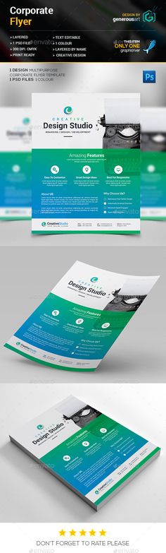 Minimalistic Corporate Flyer Brand design, Brochures and - web flyer