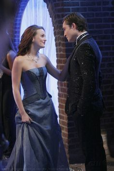 Blair and Chuck...only Chuck Bass can get away with wearing a glittered tuxedo jacket <3
