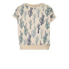 T-shirt Ela Cactus, Ecru
