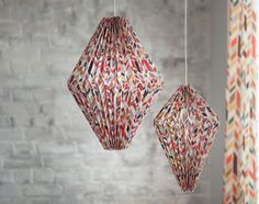 Suspension origami motifs scandinaves