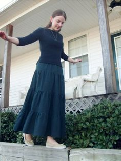 Long Tiered Skirt Tutorial