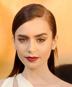 Lily Collins...love her eyebrows!!