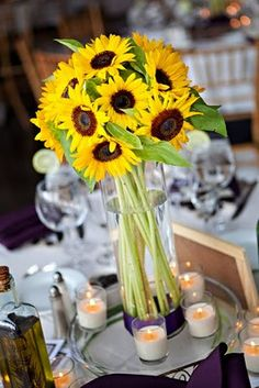 159 best sunflower centerpieces images in 2019 floral arrangement rh pinterest com Sunflower Wedding Ideas Sunflower Wedding Cakes