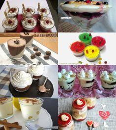 ¡ Aquí y Ahora !: 8 recetas de Postres en Vasitos y Copas Gourmet Desserts, Trifle, Candy Recipes, Oreo, Panna Cotta, Sweet Tooth, Pudding, Sweets, Breakfast