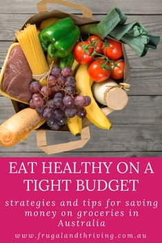 You CAN eat healthy on a tight budget. With a little bit of planning and a few tips and tricks up your sleeve, you can eat well on a budget. #frugalliving #grocerybudget #savingmoney Frugal Recipes, Healthy Recipes On A Budget, Frugal Meals, Budget Meals, Money Tips, Money Saving Tips, Cheap Dinners, Save Money On Groceries, Tight Budget