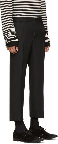 Haider Ackermann - Black Wool Cropped Trousers