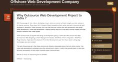 Why Outsource Web Development Project to India ?