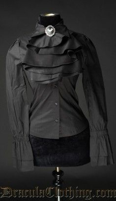 Black goth shirt from Dracula.com