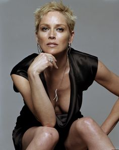 less breast.. but all confidence. Sharon Stone by Michel Comte