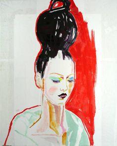 "Saatchi Art Artist Claudia Wimmer;  Slikarstvo, ""tulipan 4"" #art"