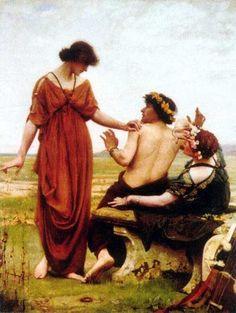 """Destiny"" by Thomas Cooper Gotch (1854-1931)."