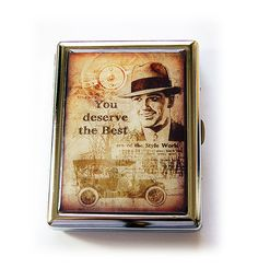 Cigarette Case Fathers Day Gift Case for Smokes by KellysMagnets