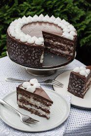 Kókuszos-csokoládés torta recept - Kifőztük, online gasztromagazin Hungarian Desserts, Hungarian Recipes, Fitness Cake, Torte Recepti, Just Cakes, Muffin, My Best Recipe, Pudding, Perfect Food