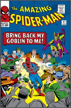 'Bring Back My Goblin to Me' - One of my all-time favorite Spidey covers in The Amazing Spider-Man Volume 1 Issue 27 - Steve Ditko & Stan Lee perfection Old Comic Books, Vintage Comic Books, Marvel Comic Books, Comic Book Covers, Marvel Characters, Marvel Art, Comics Vintage, Old Comics, Amazing Spider Man Comic