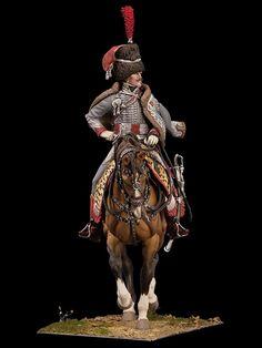 Captain of Hussars, 3rd Regiment,  c. 1806 S8-F58 90 mm 1/18 | Classics in 90 mm | Andrea Miniatures |