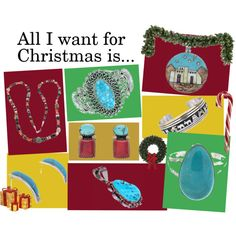 """""""All I want for Christmas is Native American Jewelry from SilverTribe!"""" by silvertribe on Polyvore"""