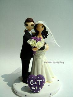 Lovely customized wedding cake topper