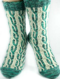 Ravelry: AlohaBlu's Triple Cable Socks | LANIKAI Silver, White
