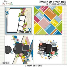 Recycle 05   Templates by Akizo Designs - for Digital Scrapbooking Layout