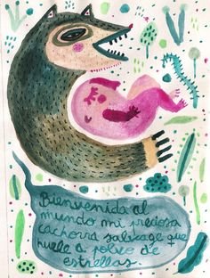 """""""Cachorra"""" Watercolor on paper. Watercolor, Paper, Stars, Pen And Wash, Watercolor Painting, Watercolour, Watercolors"""