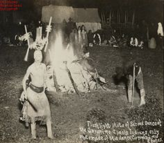 Photograph of the Sacred Dance of the Geronimo Apache Indians taken at night. There is a bonfire in the center of the dancing Indians. The photo was taken using a flashlight. The photo was copyrighted in Native American Photos, Native American History, Native American Indians, Native Americans, American Life, Apache Indian, Native Indian, Ranch Vacations, Dancing In The Rain