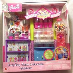 RARE 2003 Candy Shop Store Playset Barbie Doll New NRFB by Matel B6287 | eBay