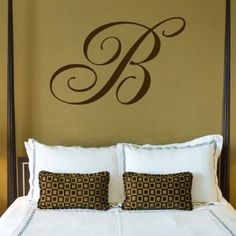 Great idea for focal point above bed