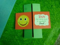 Handmade endless greeting card for friendship day.