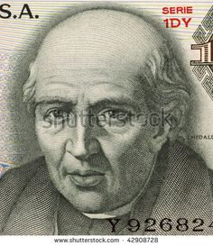 MEXICO - CIRCA 1975: Miguel Hidalgo y Costilla on 10 Pesos 1975 Banknote from Mexico. Priest and leader of the Mexican war of independence. Also known as ''father of the nation''.