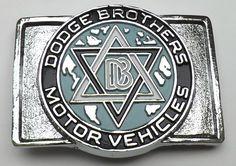 VINTAGE DODGE BROTHERS MOTOR VEHICLES BELT BUCKLE AUTOMOTIVE ORIGINAL FIRST LOGO #DODGE