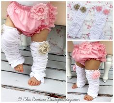 Items similar to Baby Girl Pink Ruffle Lace Bloomer Diaper Cover & Rose Ruffle Leg Warmers Boot Cuffs. Birthday Outfit Cake Smash, Coming Home Outfit on Etsy Baby 1st Birthday, 1st Birthday Outfits, Cake Birthday, Little Girl Fashion, Kids Fashion, Diaper Covers, Coming Home Outfit, Little Doll, Everything Baby
