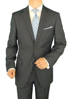Gino Valentino Men's 2 Button Blue Striped Charcoal Suit Gino Valentino http://www.amazon.com/dp/B009FTJQZW/ref=cm_sw_r_pi_dp_dp7Ztb03BHTCM9AN