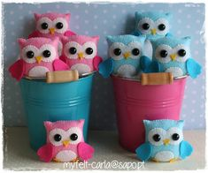 My Felt owls Owl Crafts, Cute Crafts, Crafts To Make, Felt Owls, Felt Animals, Projects For Kids, Sewing Projects, Creation Deco, Felt Fabric