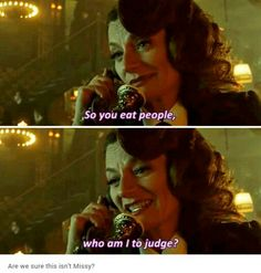 """""""So you eat people, who am I to judge?"""" - The Lady Gotham Season 2, Gotham Tv Series, Batman Universe, Gotham City, Marvel Dc, Doctor Who, The Darkest, People, Movie Posters"""