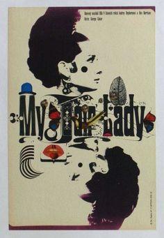 My Fair Lady Czech poster. Audrey Hepburn. Rex Harrison