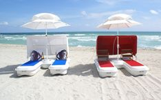 Seduction Floats™ Floating Resort Cabanas. Umbrella, canopy & a built-in cooler! >> I want one of these to anchor in the ocean!!