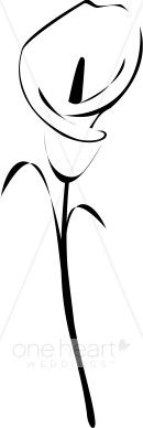 Clipart Calla Lily | Wedding Lily Clipart