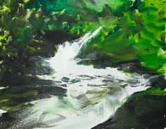 Herbert Brandl Untitled, 2015 Oil on canvas 170 x 218 cm Seen, Painting Videos, Oil On Canvas, Contemporary Art, Waterfall, Artsy, Waves, Landscape, Outdoor