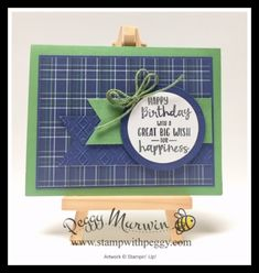 Peggy Murwin, Independent Stampin' Up! Masculine Birthday Cards, Birthday Cards For Men, Man Birthday, Masculine Cards, Fun Fold Cards, Folded Cards, Father's Day Greeting Cards, Men's Cards, Golf Cards