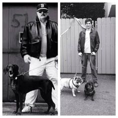 Cajoled my very sweet, patient wife into helping me recreate this old Robert Parker author photo.with pugs, naturally. Robert Parker, Fiction And Nonfiction, Pugs, Author, Animation, Writing, Sweet, Books, Fictional Characters