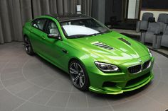 BMW Gran Coupe Individual Java Green Love these cars but they lose a bucket full of cash the minute you drive it off the forecourt and I would imagine that one is bright pea green would be worth diddly squat on the second hand market Bmw M6, Java, Bmw Performance, Super Images, Bmw Autos, Bmw Love, Mercedes Car, Sports Sedan, Car Colors